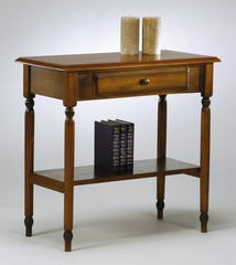 Foyer Table with Drawer and Shelf in Antique Cherry - Office Star - KH07