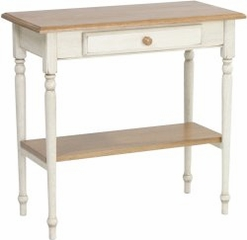 Foyer Table with Drawer and Shelf in Antique White and Cherry - Office Star - CC07