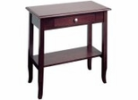 Foyer Table with Drawer and Shelf in Merlot - Office Star - ME07