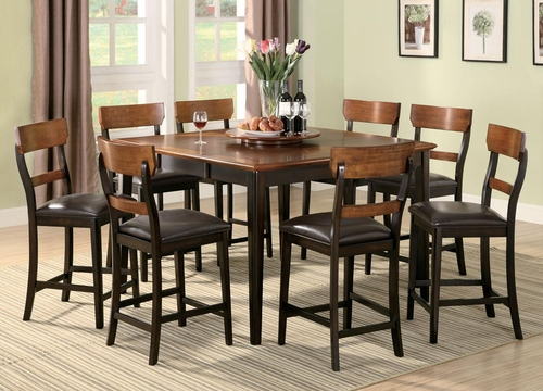 Franklin 9PC Counter Height Dining Set in Brown and Oak - 102198