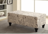 French Script Storage Bench - 500986