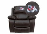 Fresno State University Bulldogs Embroidered Rocker Recliner  - MEN-DA3439-91-BRN-40012-EMB-GG
