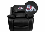 Fresno State University Bulldogs Rocker Recliner - MEN-DA3439-91-BK-40012-EMB-GG