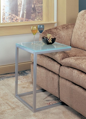 Frosted Glass Top Snack Table - 900289