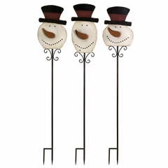 Frosty Friends Yard Stakes (Set of 3) - IMAX - 59414-3