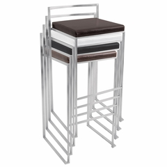 Fuji Barstool White - LumiSource - BS-BG-FUJI-W