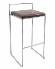 Fuji Stacker Barstool Brown - LumiSource - BS-BG-FUJI-BN