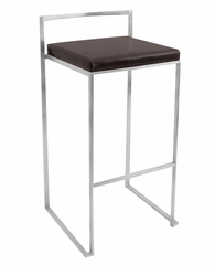 Fuji Stacker Barstool Wenge - LumiSource - BS-BG-FUJI-WNG