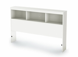 "Full Bookcase Headboard (54"") in Pure White - Sparkling - South Shore Furniture - 3260093"