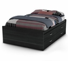 "Full Captains Bed (54"") in Black Onyx/Charcoal - Cosmos - South Shore Furniture - 3127209"