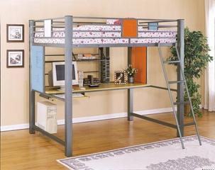 Full Loft Study Bunk Bed - Teen Trends - Powell Furniture - 517-117
