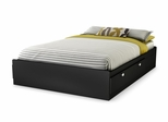 "Full Mates Bed (54"") in Solid Black - Spark - South Shore Furniture - 3270211"