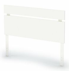 "Full/Queen Headboard (54/60"") in Pure White - Sparkling - South Shore Furniture - 3260270"