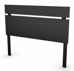 "Full/Queen Headboard (54/60"") in Solid Black - Spark - South Shore Furniture - 3270270"