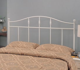 Full/Queen Metal Headboard in Cottage White - 300183QF