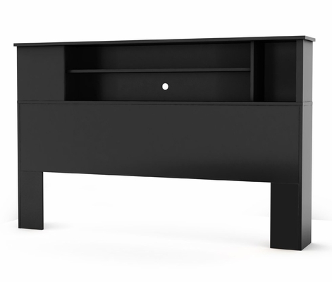 Full/Queen Size Bookcase Headboard in Solid Black - South Shore Furniture - 3170092