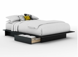 Full/Queen Size Platform Bed in Solid Black - South Shore Furniture - 3107217