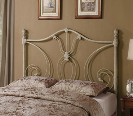 Full/Queen White Metal Headboard - 300188QF