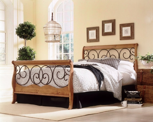 Full Size Bed - Dunhill Full Size Bed in Autmn Brown/Honey Oak - Fashion Bed Group - B91D04