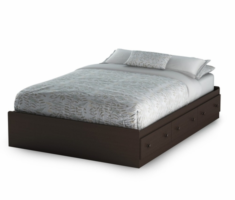 Full Size Mates Bed in Chocolate - Summer Breeze - South Shore Furniture - 3219211