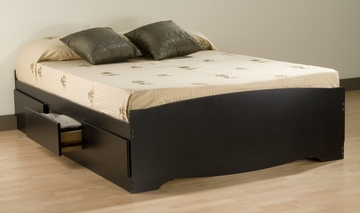 Full Size Platform Storage Bed in Black - Sonoma Collection - Prepac Furniture - BBD-5600