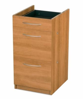 Fully Assembled Full Pedestal in Cappuccino Cherry - Embassy - Bestar Office Furniture - 60628-68