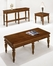 Furniture DMI - Antigua Occasional Table Set in West Indies Cherry Finish