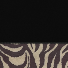 "Futon Chair Cover in Coal + Zebra - 28"" x 54"" L.X.E. Solid/Poly-Suede - 33-1112-4006"