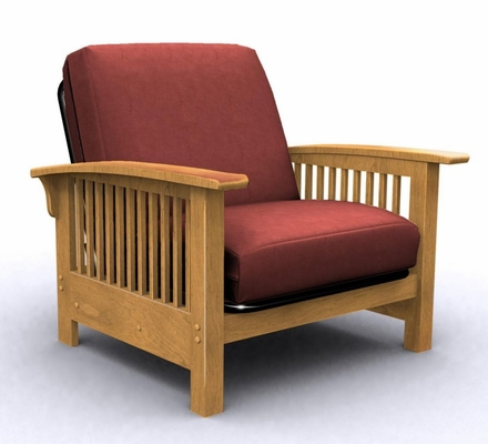 Futon Chair Frame - Bridgeport Jr. Twin Chair in Golden Oak - 35-2902-002