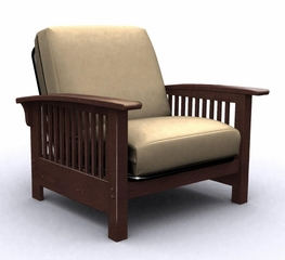 Futon Chair Frame - Bridgeport Jr. Twin Chair in Walnut - 35-2902-003