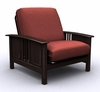Futon Chair Frame - Hermosa Jr. Twin Chair Metal Wood in Espresso - 35-7102-004