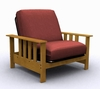 Futon Chair Frame - Mead Jr. Twin Chair in Medium Oak - 35-0902-008