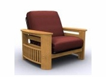 Futon Chair Frame - Portofino Jr. Twin Chair in Golden Oak - 35-0802-002