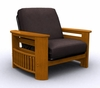 Futon Chair Frame - Portofino Jr. Twin Chair in Honey Oak - 35-0802-010