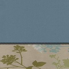"Futon Chair Ottoman Cover in Chambray + Montage - 28"" x 21"" L.X.E. Solid/Print - 33-1122-6006"