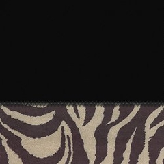 "Futon Chair Ottoman Cover in Coal + Zebra - 28"" x 21"" L.X.E. Solid/Poly-Suede - 33-1122-4006"