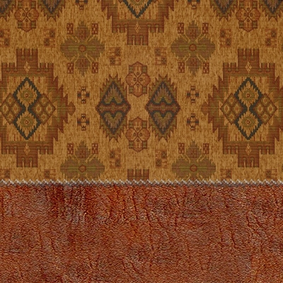 Futon Chair Ottoman Cover in Indian Harvest - 28