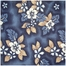"Futon Chair Ottoman Cover in Oahu Blue - 28"" x 21"" Classic Print - 33-1122-681"