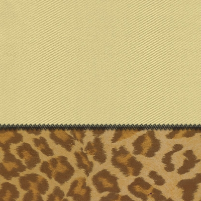 Futon Chair Ottoman Cover in Sand + Leopard - 28