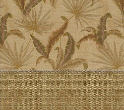 "Futon Chair Ottoman Cover in Tropic Palm Camel - 28"" x 21"" LUXE Wovens Floral - 33-2122-526"