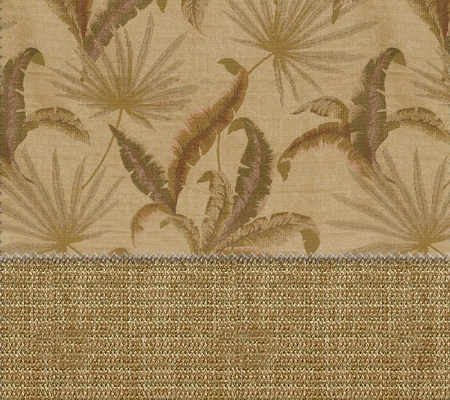 Futon Cover in Tropic Palm Camel - Full Size LUXE Wovens Floral with 2 FREE 18