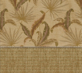 "Futon Cover in Tropic Palm Camel - Full Size LUXE Wovens Floral with 2 FREE 18"" Pillows - 33-2804-526"