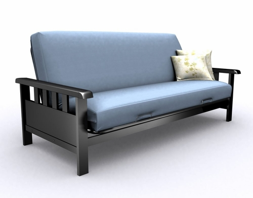 Futon Frame - Full Size Mission Metal Futon in Black - 35-2514-050