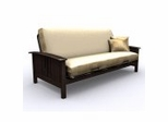 Futon Frame - Hermosa Full Size Metal Wood Futon in Espresso - 35-7104-004
