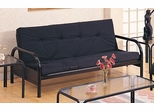Futon Frame in Satin Black - Coaster - 2334