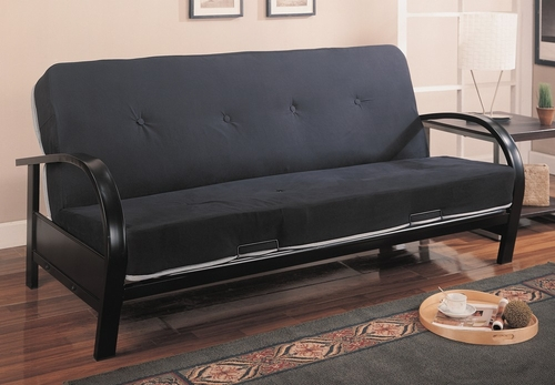 Futon Frame in Satin Black - Coaster - 300159