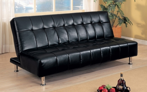 Futon / Sofa Bed in Black - Coaster - 300118