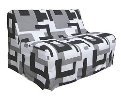 Futon with Mattress - Full Size E-Frame Combo with Frame and Mattress - 55-3544-050