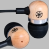 Gaiam Black Maple Wood Ear Bud with Microphone