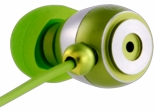 Gaiam Green Aluminum Ear Buds